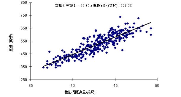 腹胁间距测量