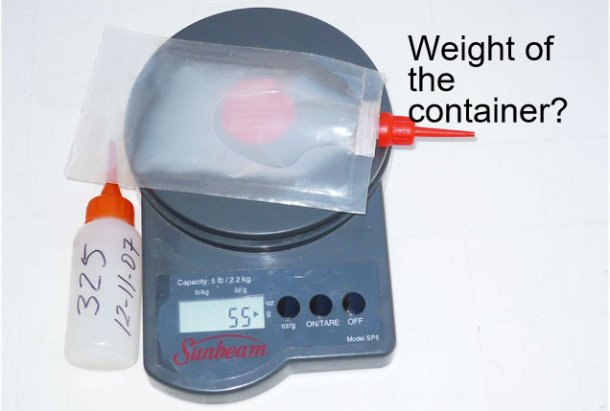 Photo 2. Weight of the problem dose