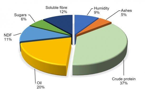 图2.根据FEDNA(2017)的大豆化学成分